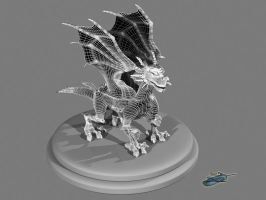 Falcor Wireframe Render by The-Bluetip