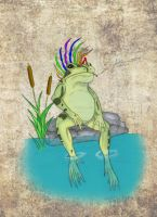 Bullfrog with an Attitude by DrawingAries