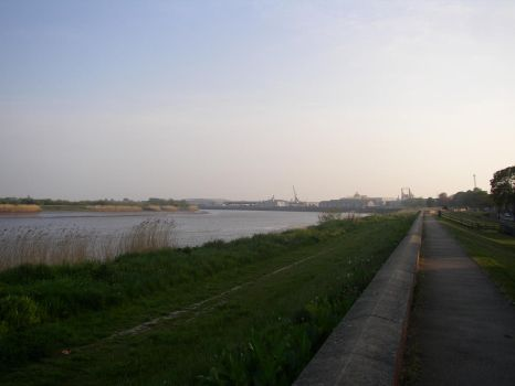 Goole Docks and the River Ouse by thetheoryof