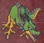 Bead Sprite DQ1 or DW1 Dragon by pinkdramon