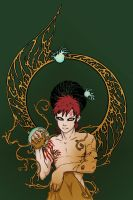 Gaara of the Desert tattoo by eloquence-of-line
