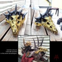 Beast Skull Shoulder Armor by MordorLegion