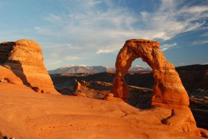 Delicate Arch at Sunset by mikewheels