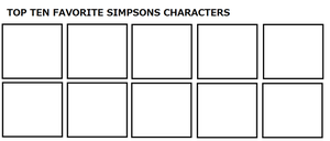 Top Ten Favorite Simpsons Characters by ElMarcosLuckydel96