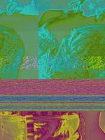 Glitched colored woman by xavier21fando