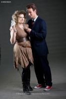 River Song and 10th Doctor by ThePuddins