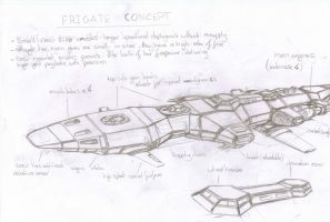 Frigate Concept by chaos-sandwhich