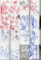 2009 Subway sketches by jel