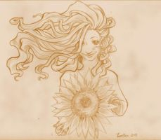 Start the Day with Sunflowers by betsyillustration
