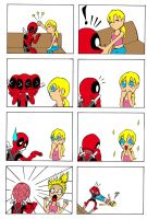 deadpool and his girlfriend 3 by Leon-Z