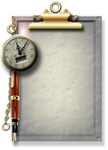 Steampunk Glass Clipboard Icon by yereverluvinuncleber