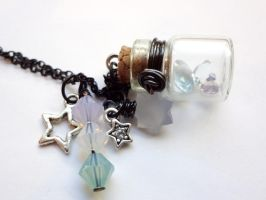Bottle Beauty Necklace - Star burst by WaterGleam