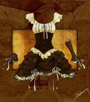 Steampunk: Lace and Frills by disasterbynature