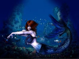 Little Mermaid, Take One by Chup-at-Cabra