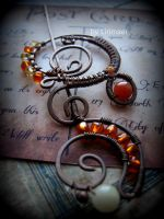 Wire Wrapped brooch by Lirimaer86