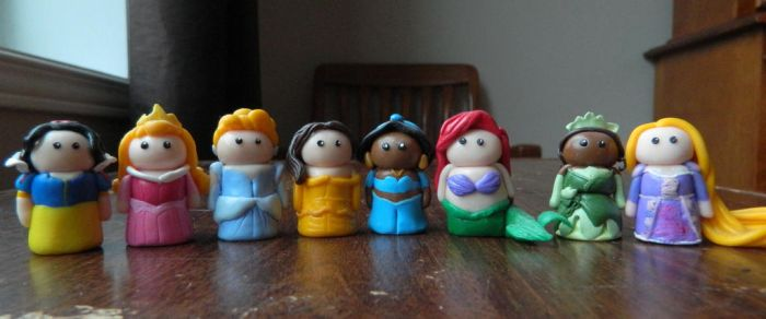 Disney Princess Mini Figures by Tabitha-Habitat