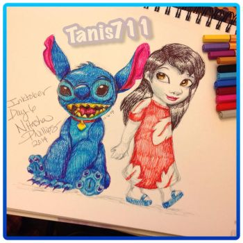 Day 6 inktober challenge _Lilo and Stitch by Tanis711
