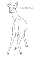 Deer makeable 1 by Makeables-R-us