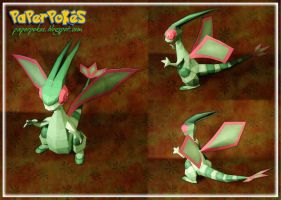 Flygon Papercraft by Lyrin-83