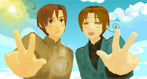 APH: .:.Come On Romano Smile!.:. by CannibalAlice