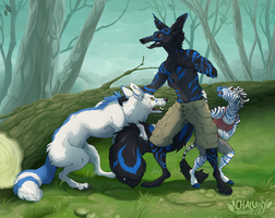 Commission - Siblings by Chaluny