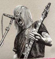 Charcoal Drawing of Jared Warth (blessthefall) by ThrowYourRoses