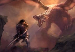 The Knight and the Dragon by mattforsyth