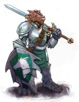 Dragonborn Paladin by Scarecrovv