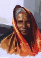 Speedpainting - Old woman by XAQT