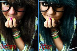 Before n After:neonpictochick by Analy-Aranda