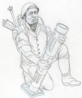 WWII Mortar concept character by tvfunnyman