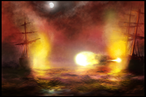 Speedpainting: Ocean Battle by rickystinger88