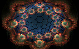 creation with lots of blue hexes by Andrea1981G