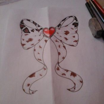 animal print bow - unfinished by laviudita