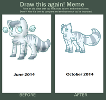 before and after meme June - October by honkfriend