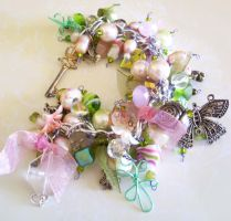 Pink and Green Bracelet by Shembre