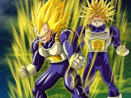 Wallpaper Vegeta and Trunks by Dony910