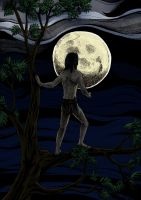 Tarzan and the Moon - colors by AngelFromHungary
