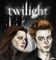 Twilight Bella + Edward by chrismickens