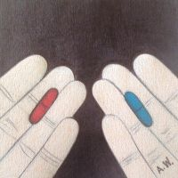 Red Pill vs. Blue Pill by Antwonomous