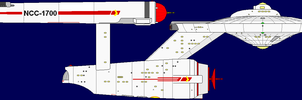 Constitution Class Starship 1 by captshade