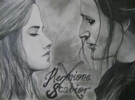Look at me... - Hermione x Scabior by Za-gatki
