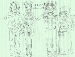Team 7 sex change by Naruto-Fanartist