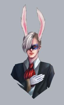 White rabbit OC concept by fcnjt