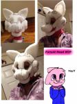 Tabby Fursuit Head WIP by Tabbyluvsbacon