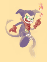 Nyaahahah! Impmon by Leaglem