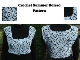 Summer Bolero Crochet Pattern by White-Hand