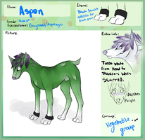 Aspen Reference (Food pup) by Polo333