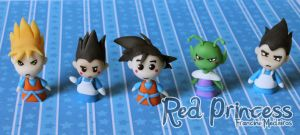 DBZ puppets by theredprincess