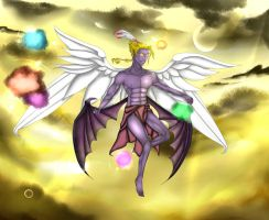 Kefka Palazzo (God Form) by AzraelWingedDeath
